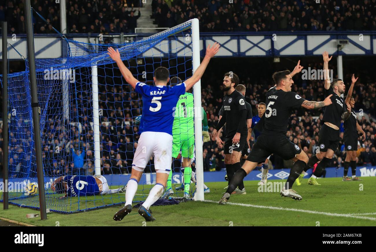 Goodison Park Liverpool Merseyside Uk 11th Jan 2020 English Premier League Football Everton Versus Brighton And