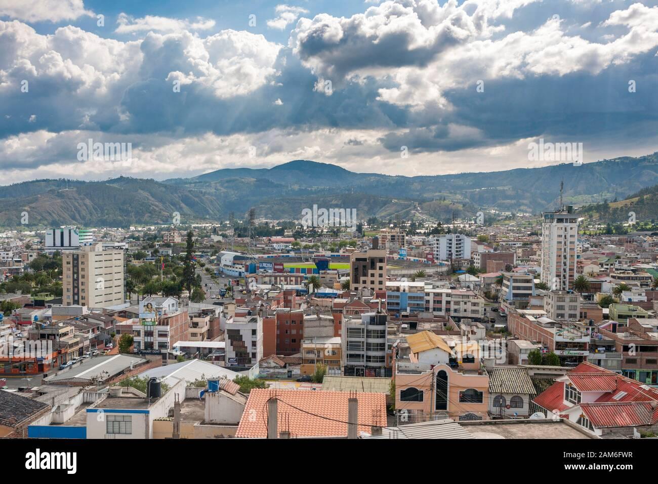 The Town Of Riobamba In Ecuador Stock Photo Alamy