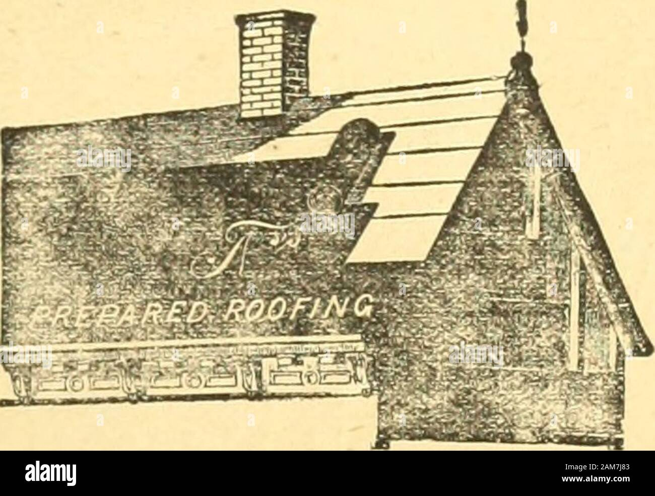 Le quincaillier (Septembre 1888-Aout 1889) . RUTHERFORD k Fils MANUFACTURIERS, ENTREPRENEURS & MARCHANDS DE BOIS Ouvrage de Meuuiserie et Fabrique de Boites dEmballage, etc. ]>Xoixlius a Scier et a Blanchir : 85 a 95 AVENUE ATWATER, MONTREAL. Les COUVERTURES en FEDTRE (TROTS EPAISSEURS) POSES PAR TOWLE & MICHAUD Et peinture? avec leur celebre Peinture a ltipreuve du feu etde leau, sont garantis pour dix ana. Ce mode de Couver-tures augmente tous les jours, il est consid6rf||comme le plus econonii-lque, le plus durable et gspecialement adapts a|notre climat.. Jous ceux qui ontfait poser de c Stock Photo