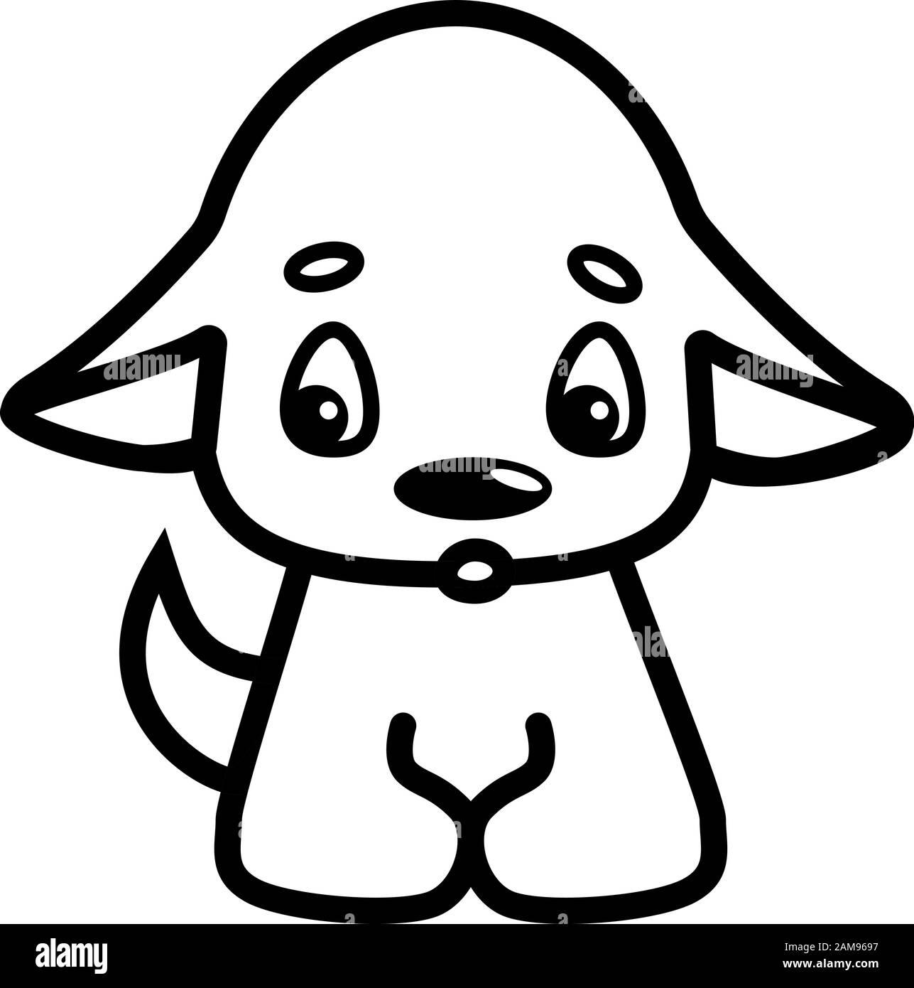Cartoon Dog Black And White Stock Photos Images Alamy