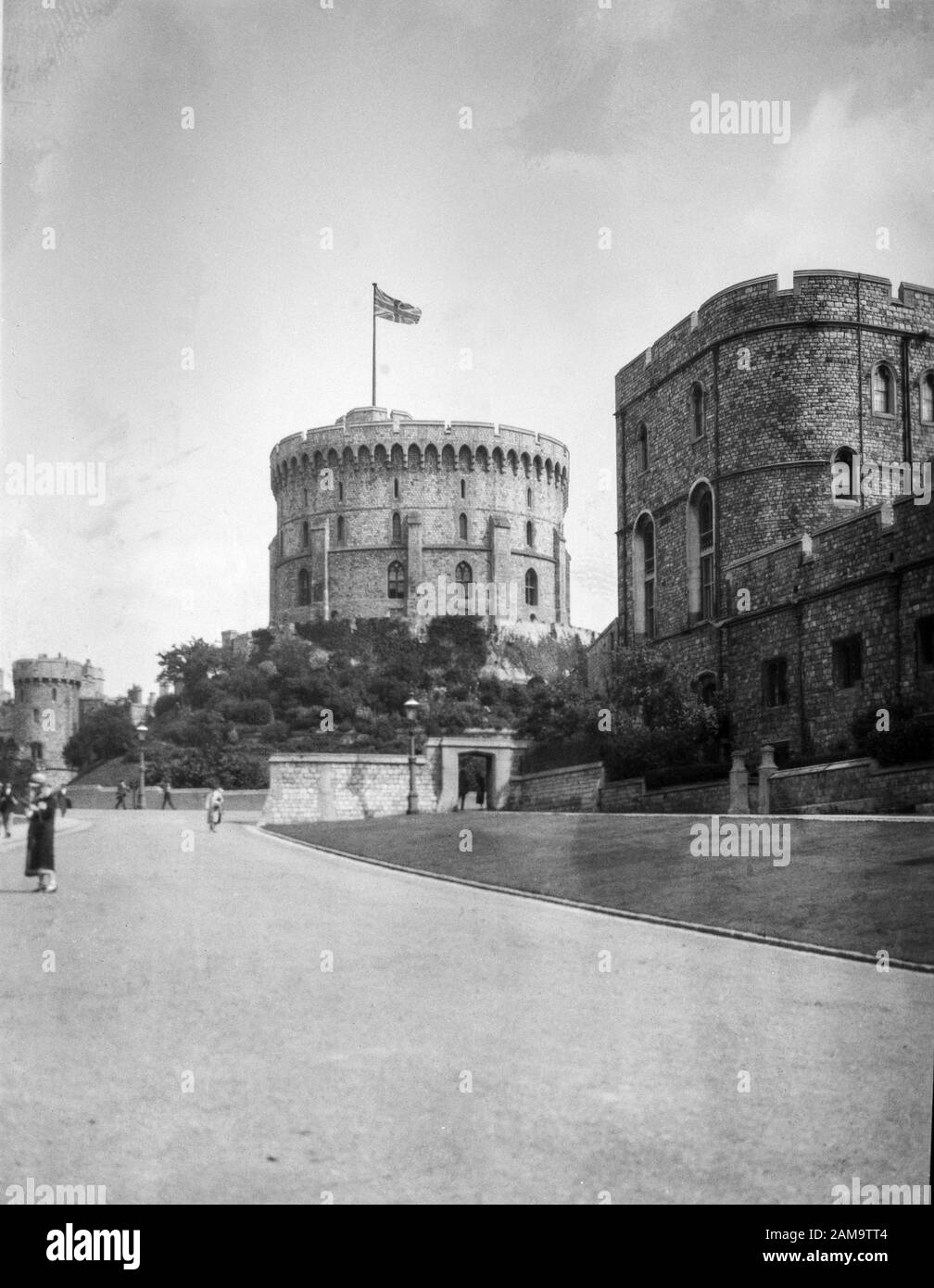 Archive photo of Windsor Castle circe 1925. Scanned from the original negative Stock Photo