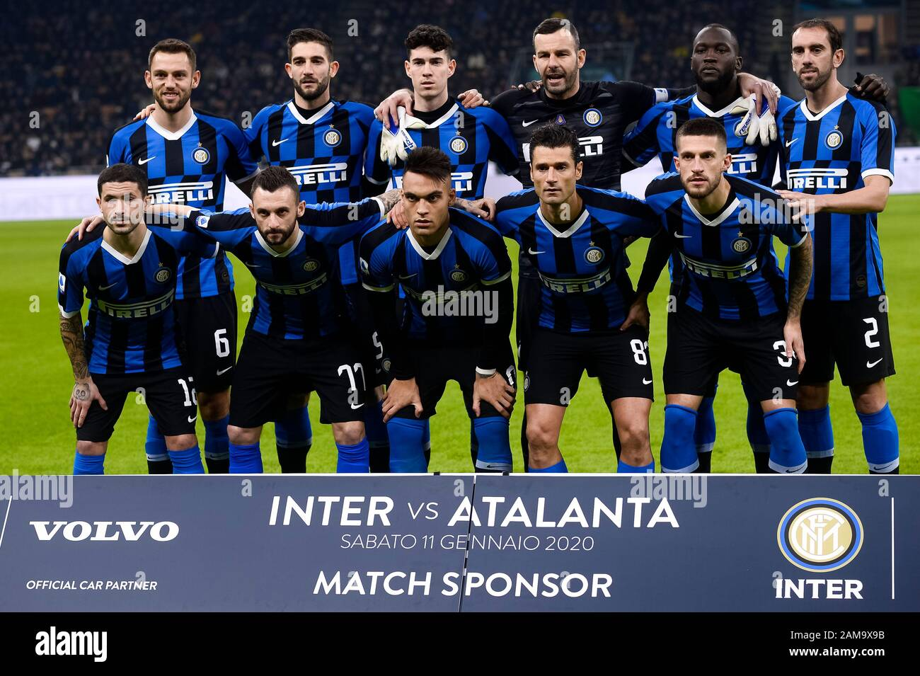 Milan Italy 11 January 2020 Players Of Fc Internazionale Pose For A Team Photo Prior To