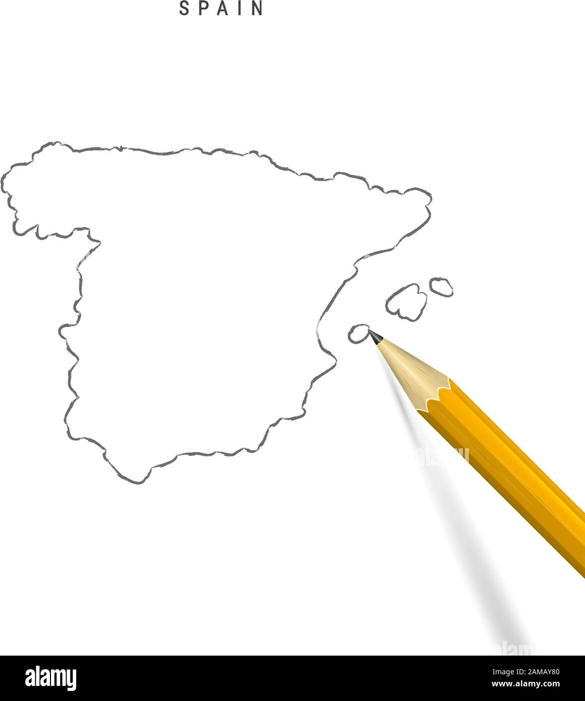 Picture of: Spain Map Outline High Resolution Stock Photography And Images Alamy