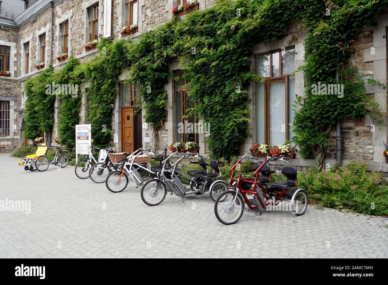 E-Trike für zwei Personen, Malmedy,Provinz Lüttich, Belgien Stock Photo