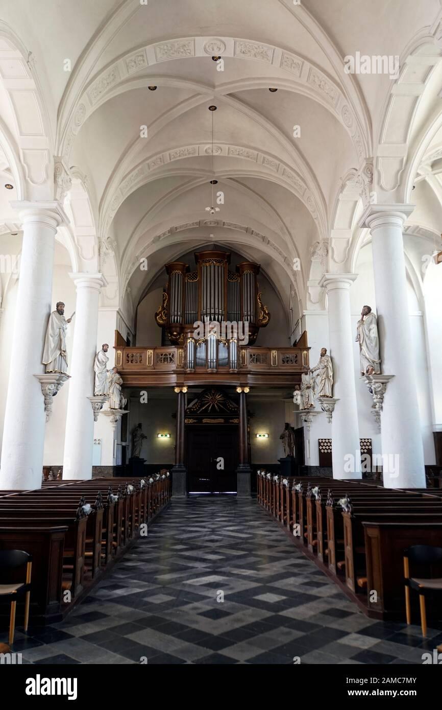 St. Nikolaus Kirche Eupen, Provinz Lüttich, Belgien Stock Photo