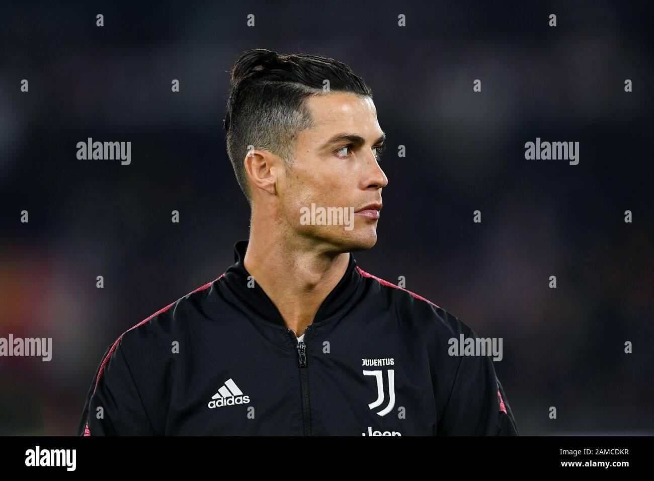 Roma Italy 12th Jan 2020 Cristiano Ronaldo Of Juventus Shows