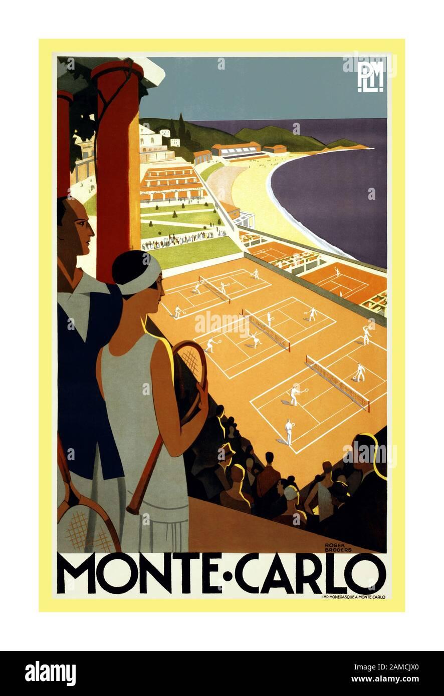 Vintage French Art Deco Travel Poster Saint Honoré-les-Bains 1920s Tennis Print