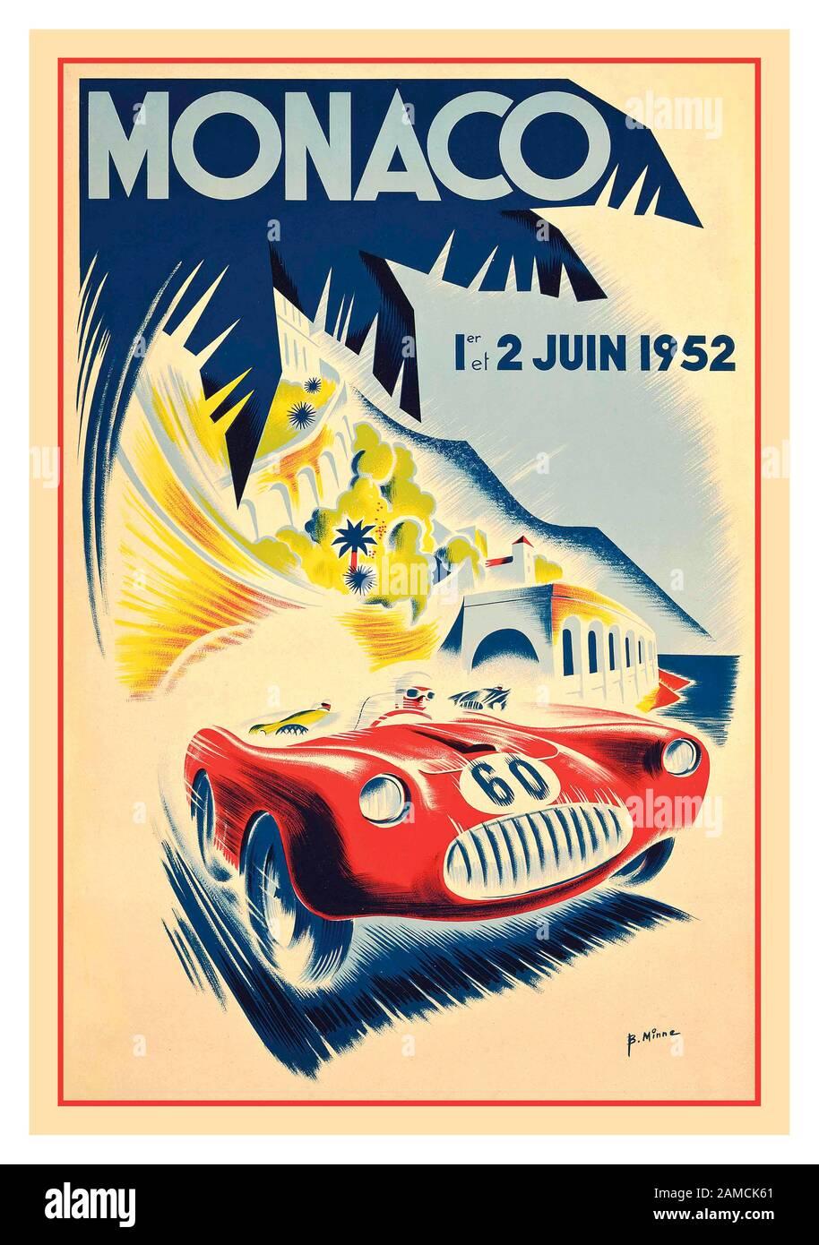 Vintage Mercedes 1937 Monaco Grand Prix Motor Racing Poster A3//A4 Print