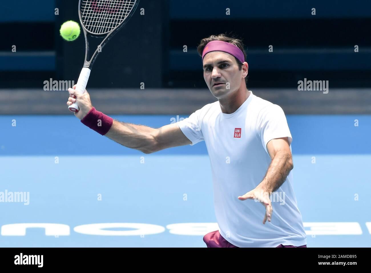 Melbourne Australia 13th Jan 2020 Roger Federer
