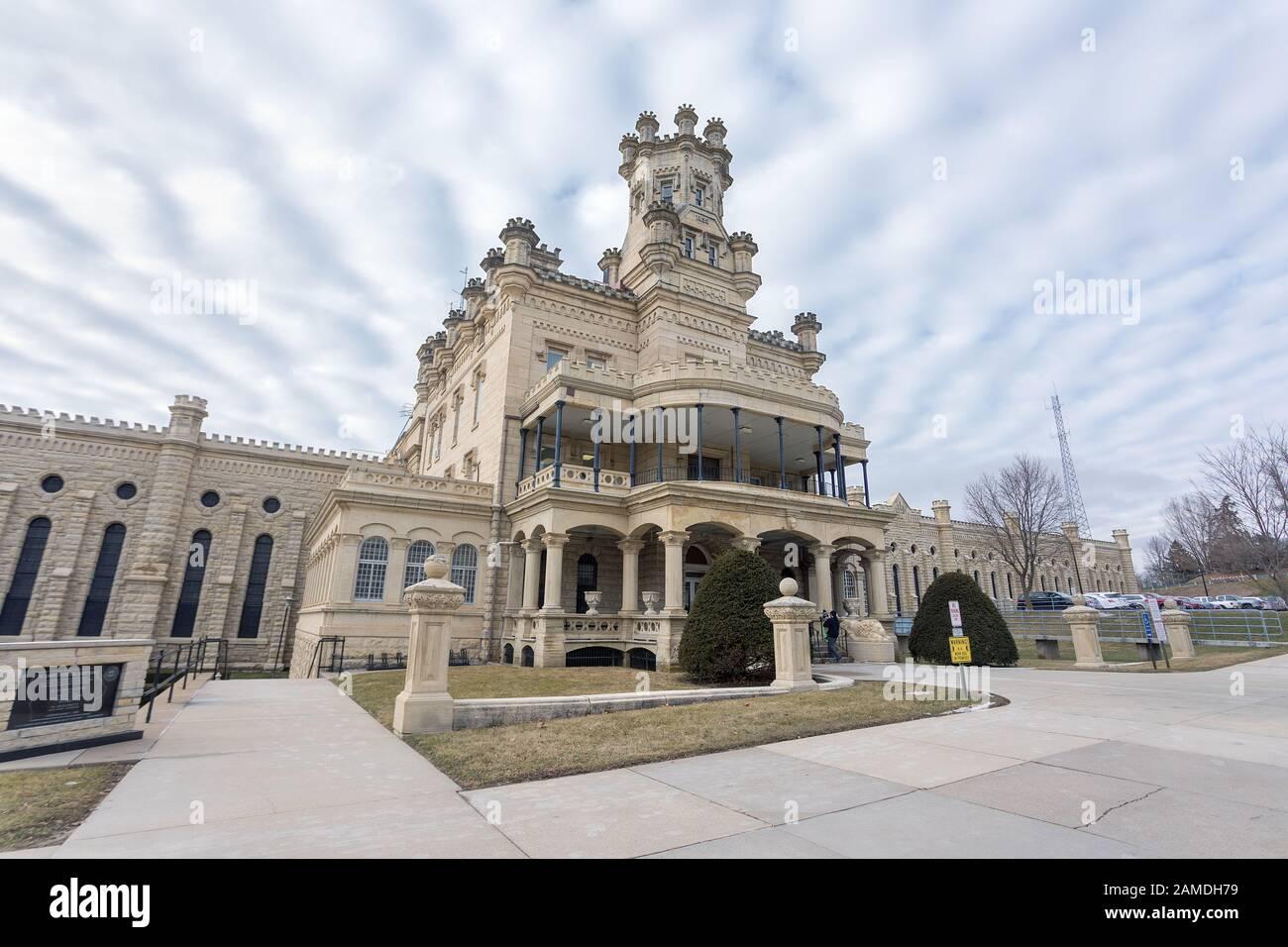 Anamosa State Penitentiary in Anamosa, Iowa, USA Stock Photo