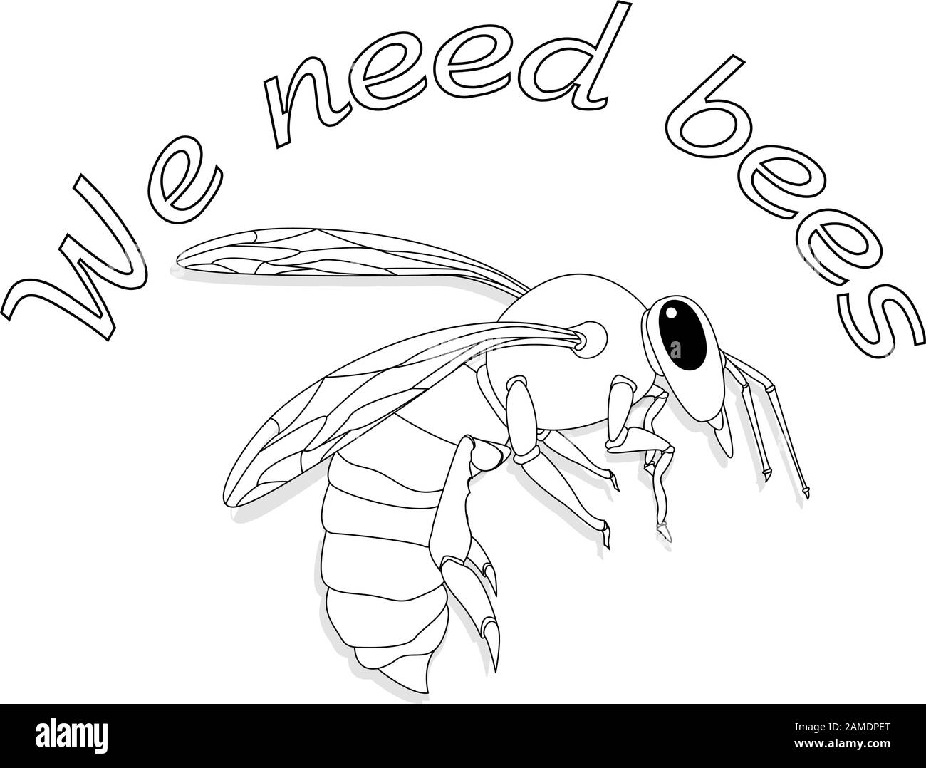 bee monochrome illustration vector text quotes and bee drawing