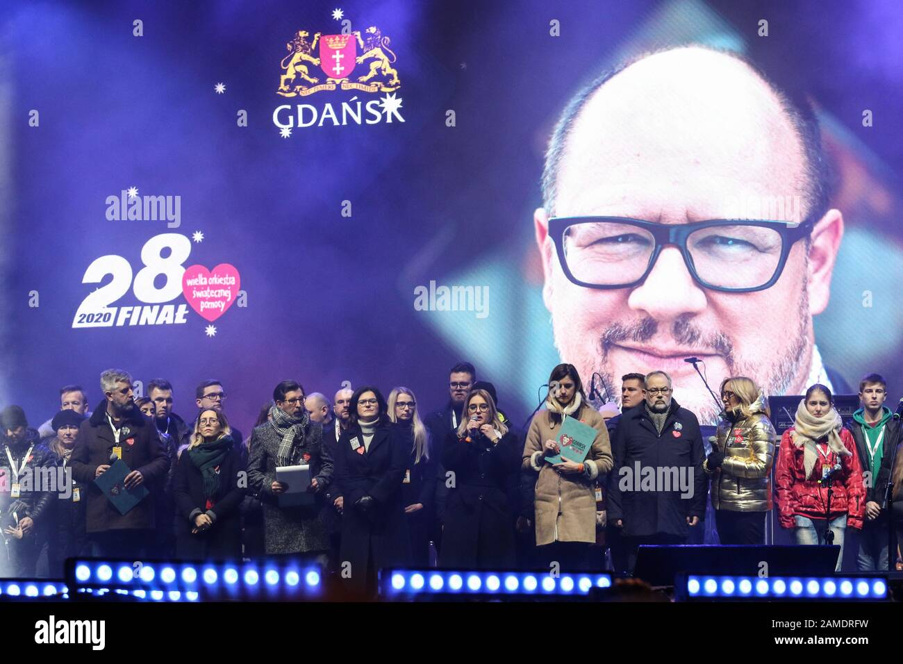 Ion 2020 Christmas Shows Gdansk, Poland. 12th Jan, 2020. Magdalena Adamowicz   wife of the