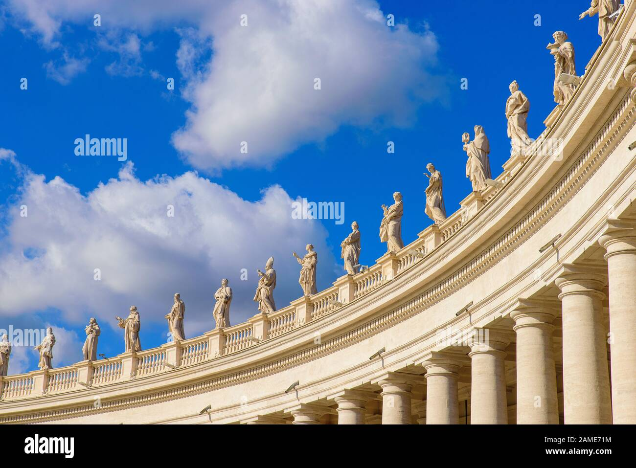Colonnades at St. Peter's Square in Vatican City Stock Photo
