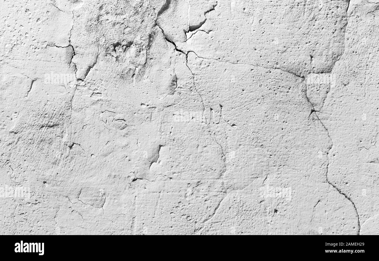 concrete wall cracked grunge texture or background Stock Photo