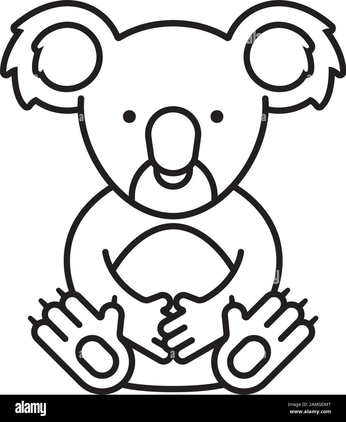 Koala Bear Stock Vector Images Alamy
