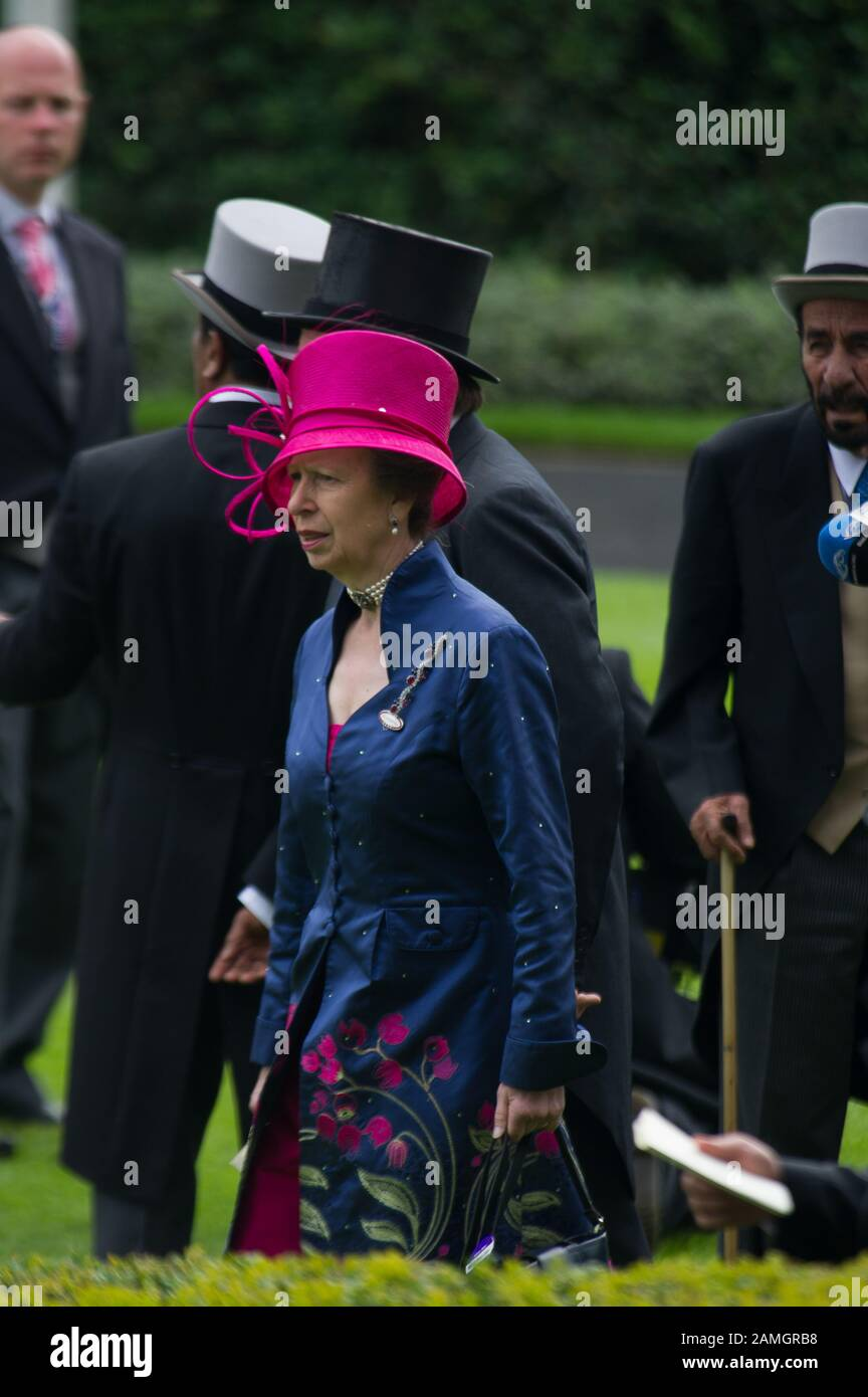 Royal Ascot Ladies Day, Ascot Races, Berkshire, UK. 19th June, 2014. Princess Anne in the Parade Ring at Ascot Races. Credit: Maureen McLean/Alamy Stock Photo