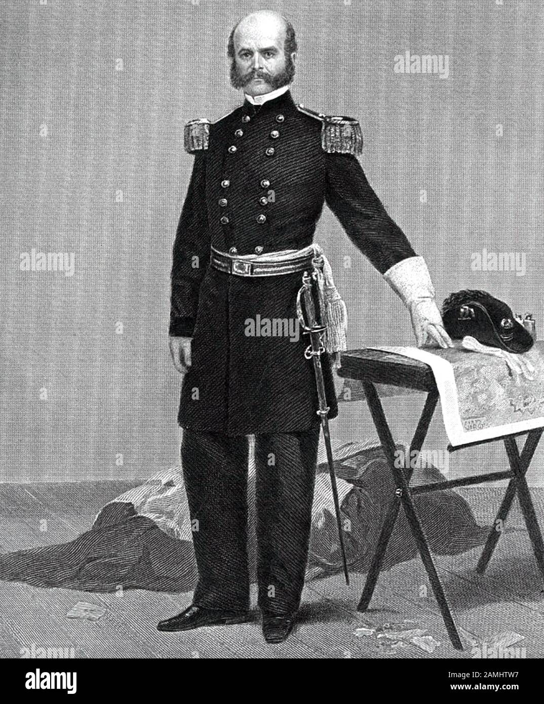 AMBROSE BURNSIDE (1824-1881) as a Union Army general in the ...