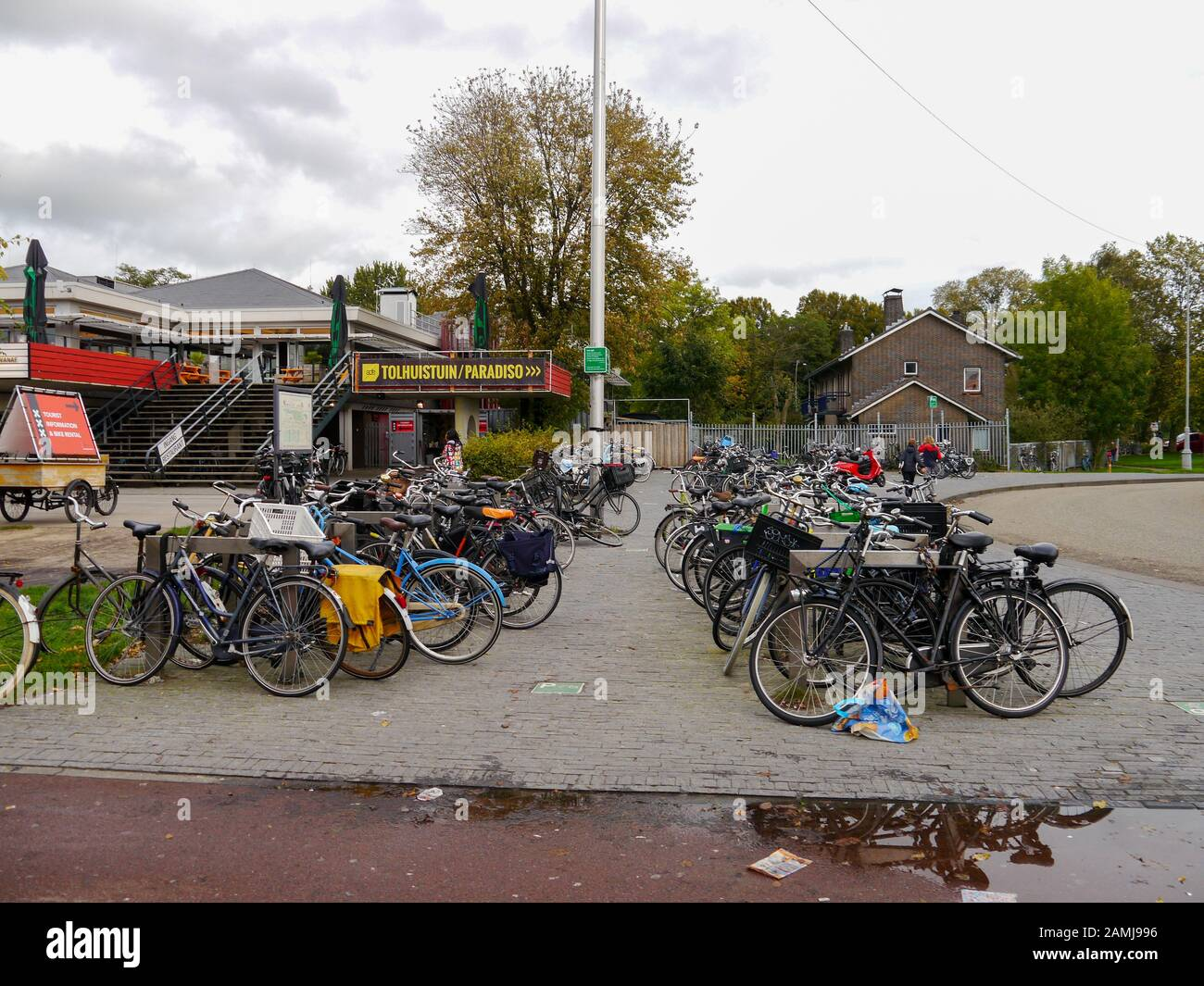 A bike park in Amsterdam, Netherlands Stock Photo