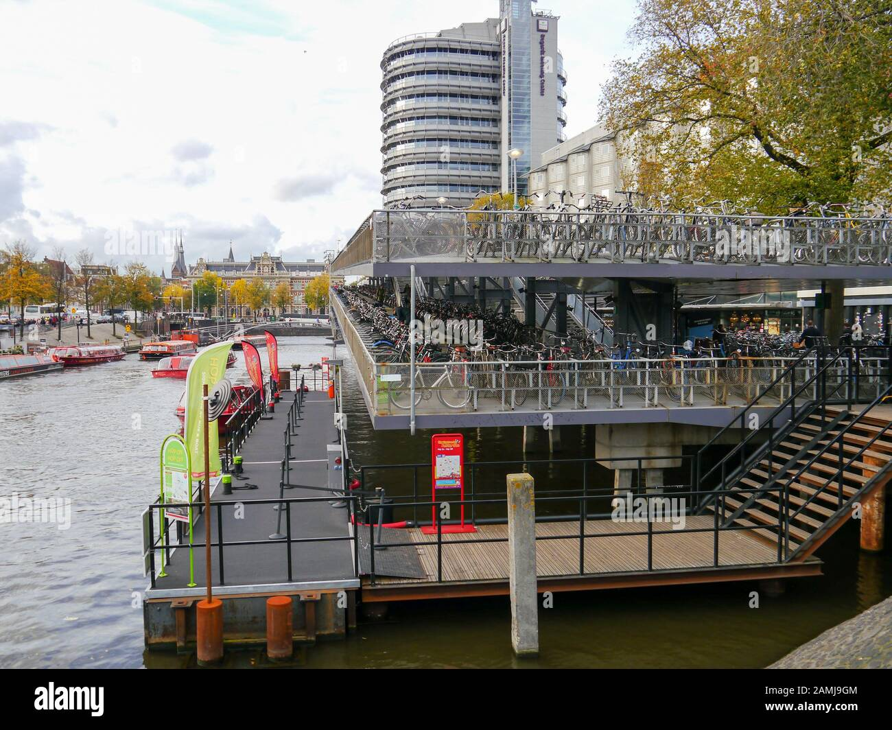 A cycle park in Amsterdam, Netherlands Stock Photo