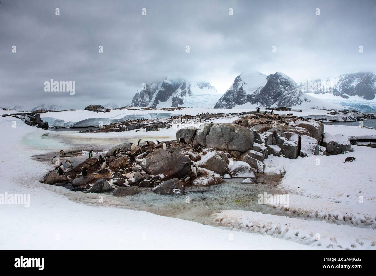 Peterman Island, Antarctic Peninsula, Antarctica Stock Photo