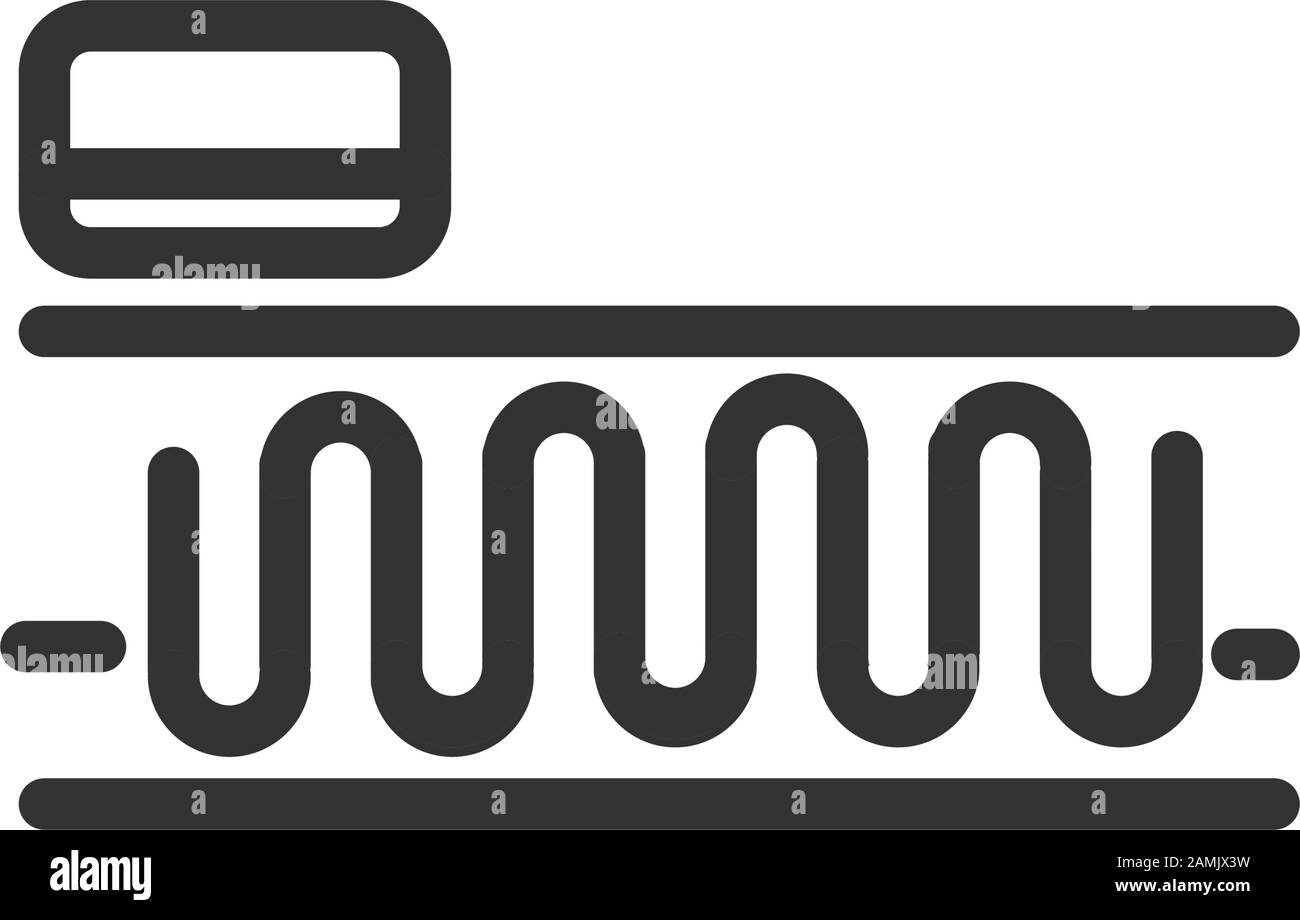 Mattress Pillow Springs Comfortable Soft Textile Vector Illustration Linear Design Stock Vector Image Art Alamy