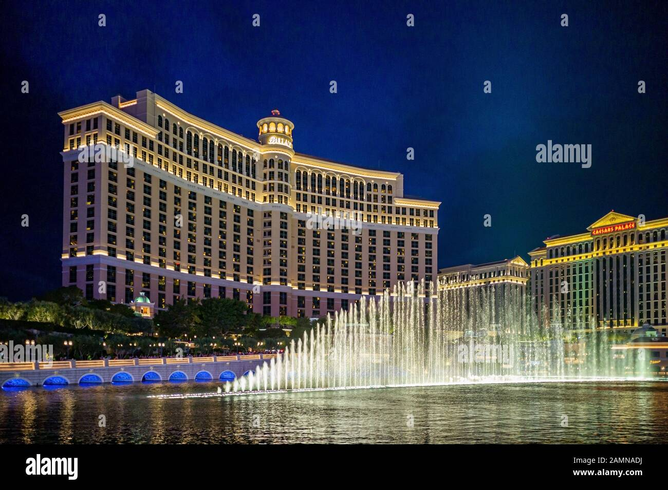 The Bellagio Is A Resort Luxury Hotel And Casino On The Las Vegas Strip In Paradise Nevada Stock Photo Alamy