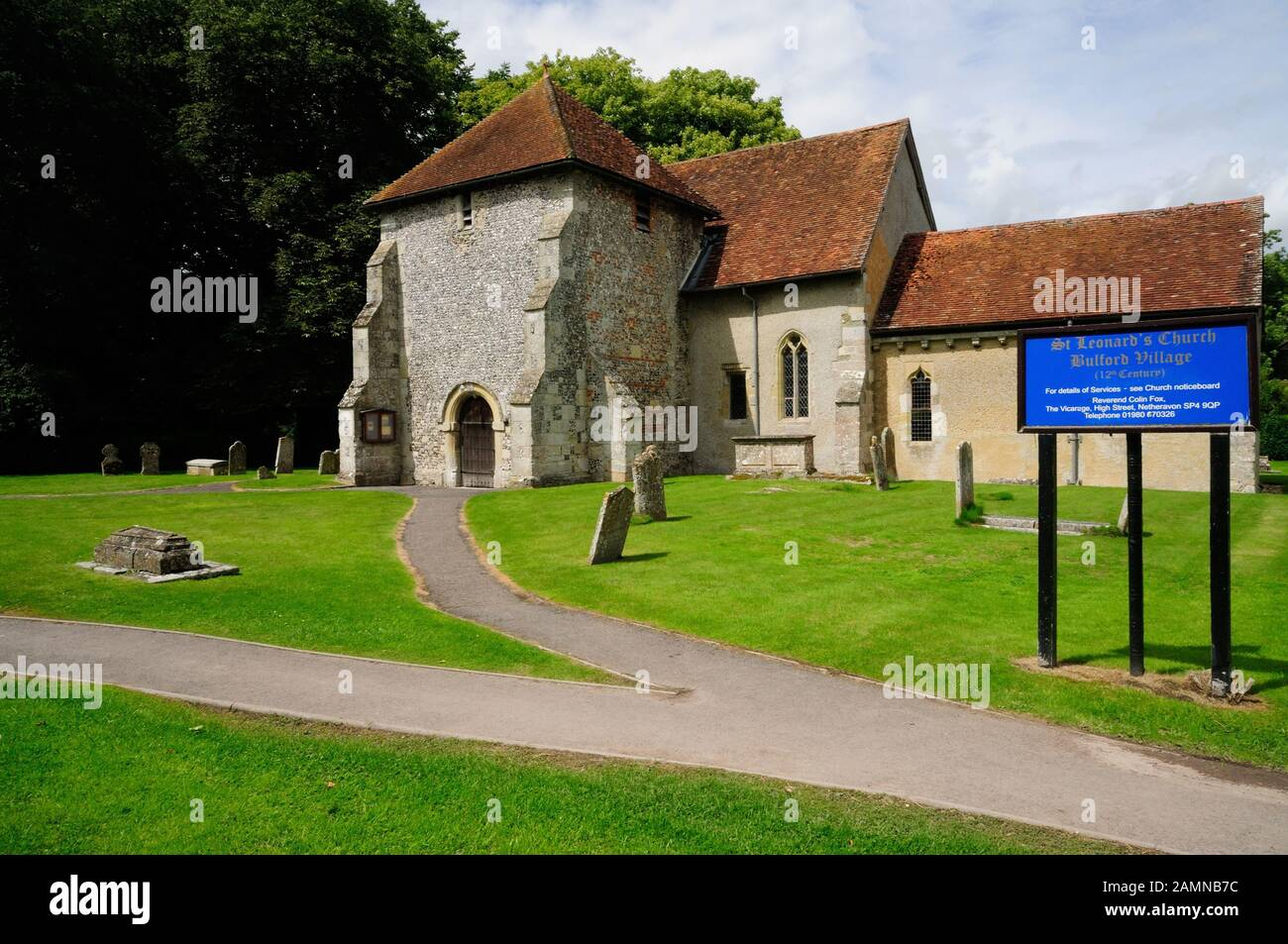 St Leonard's church, Bulford, Wiltshire. Stock Photo