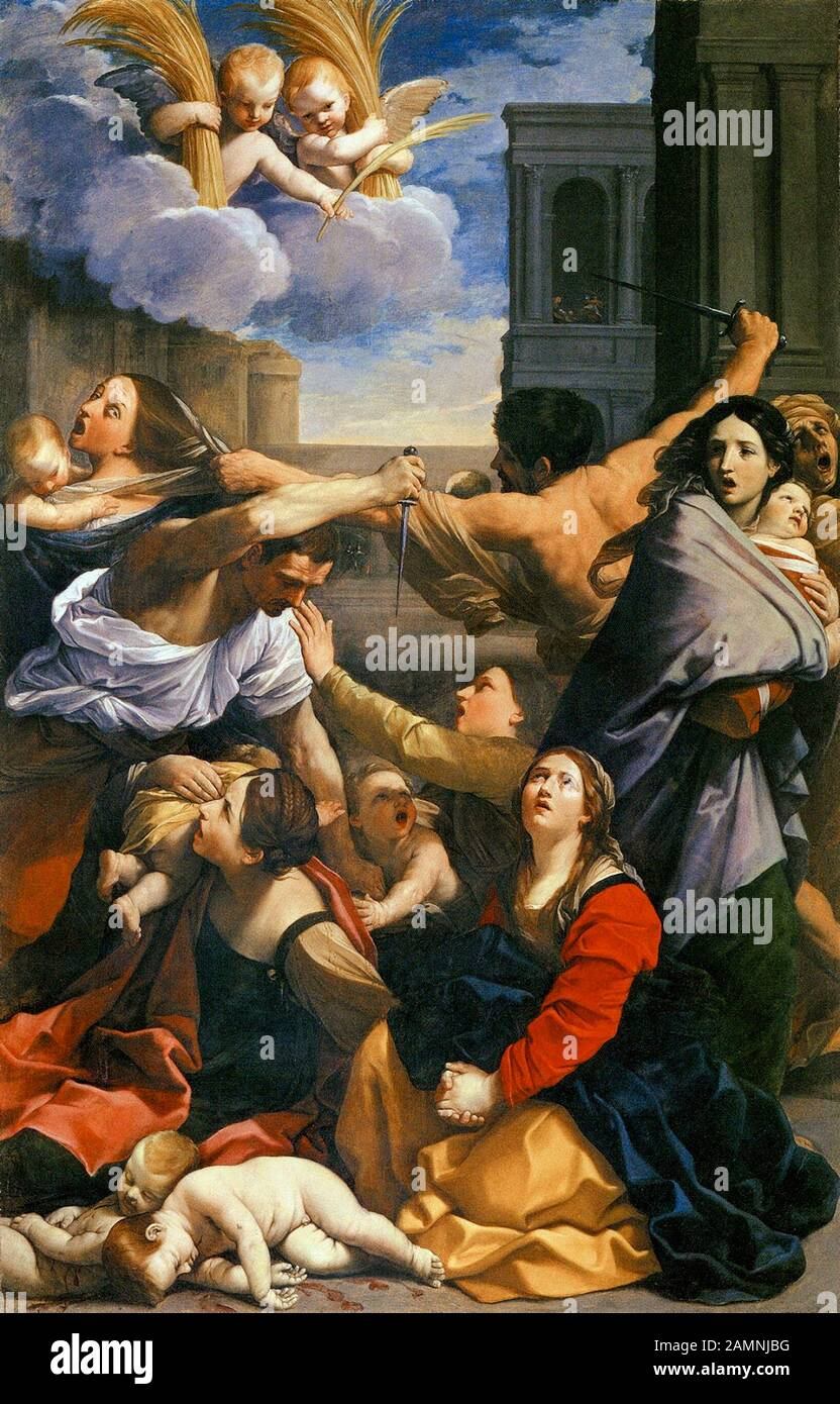 Guido Reni, The Massacre of the Innocents, painting, 1611 Stock Photo