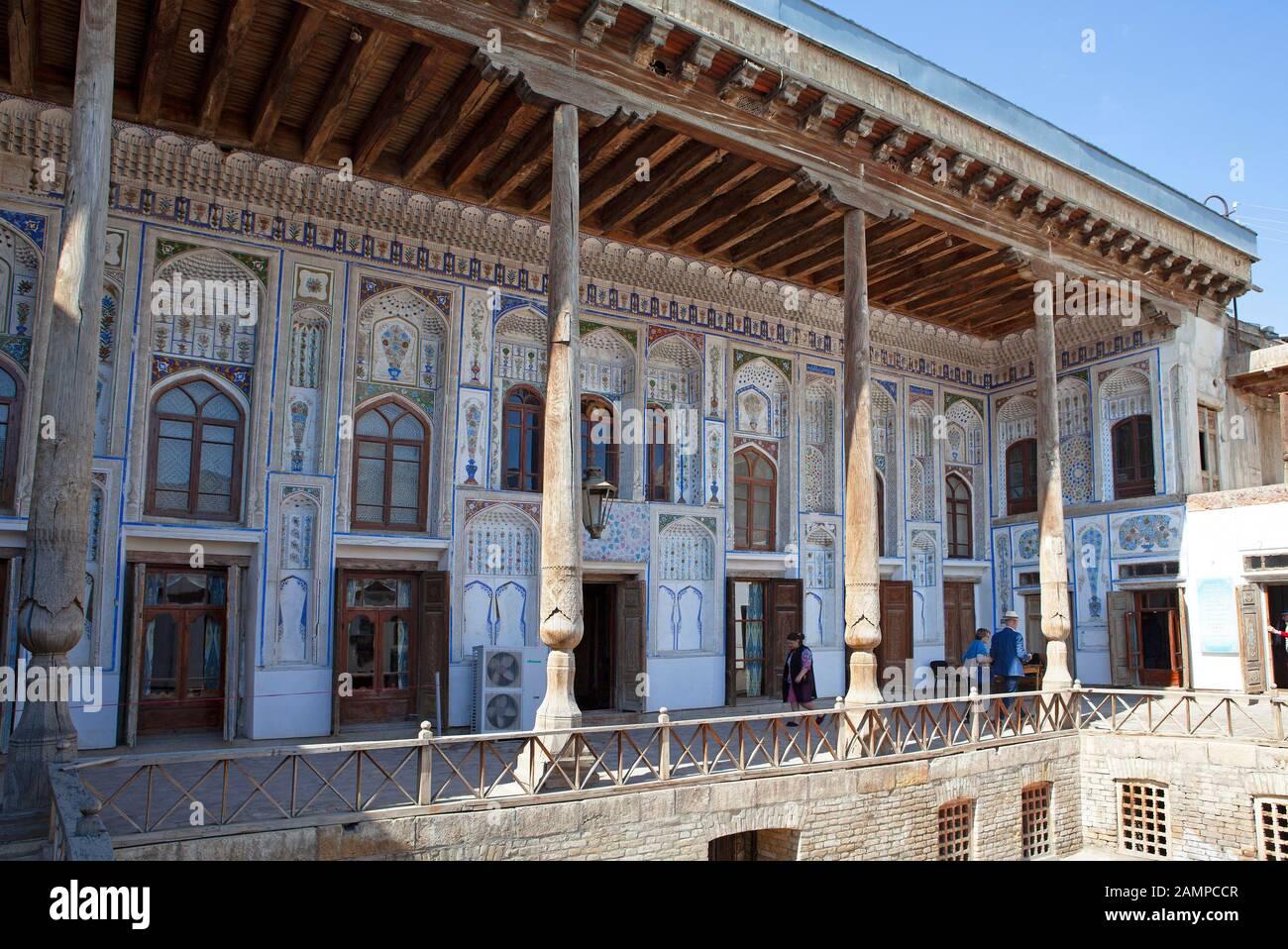 Residential building of the resistance fighter Fayzulla Ubaydullayevich Xo'jayev, Museum, Bukhara, Bukhara province, Uzbekistan Stock Photo
