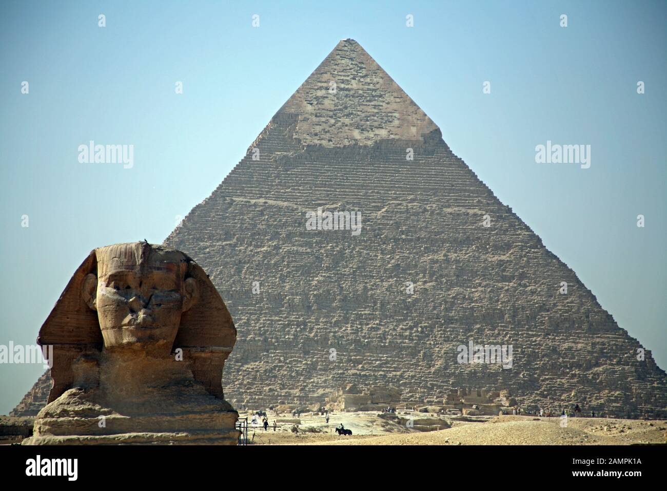 The Pyramids And Sphinx Giza Plateau Cairo Egypt Stock Photo Alamy
