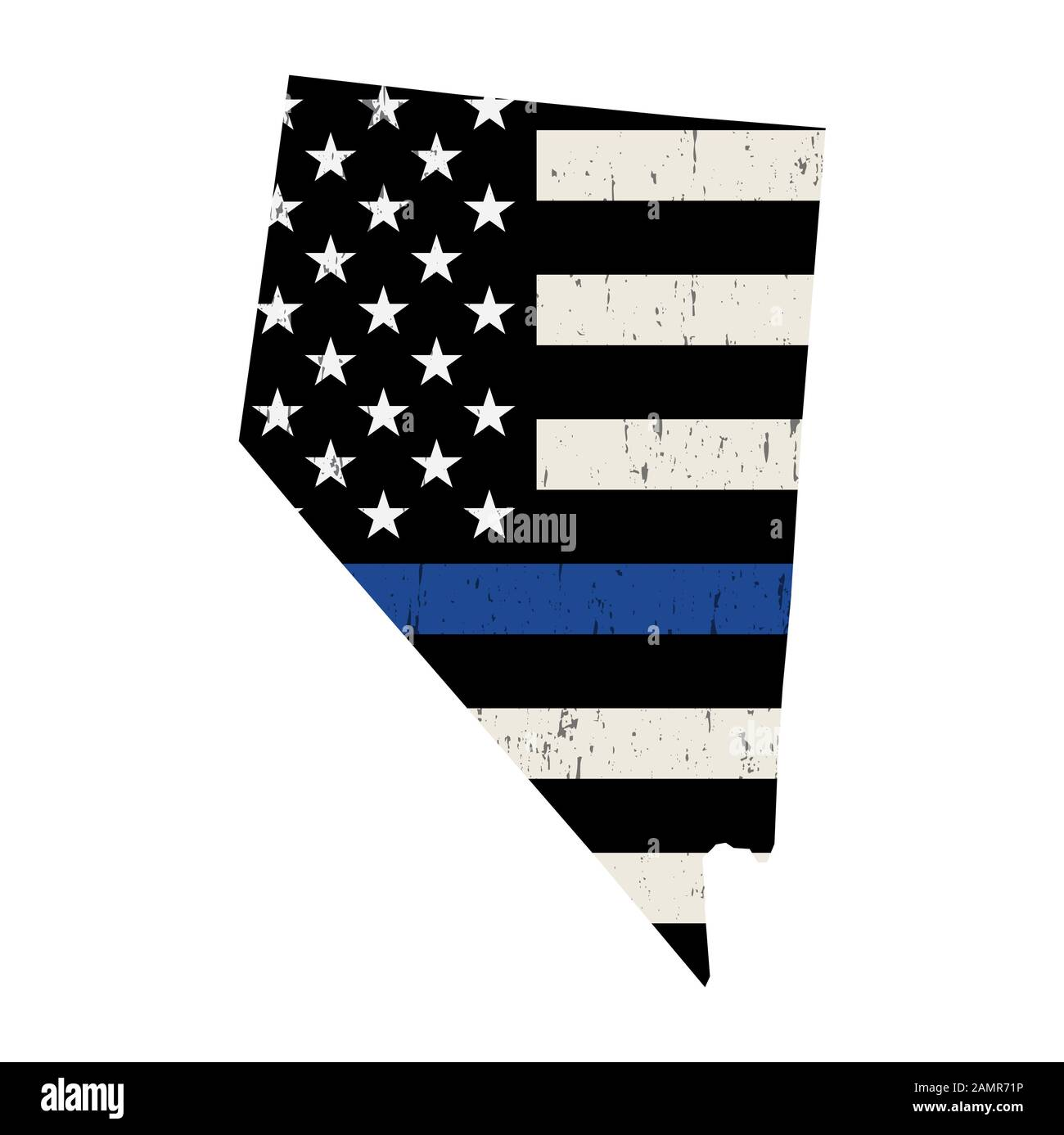 A Police Support Flag In The Shape Of The State Of Nevada Illustration Vector Eps 10 Available Stock Photo Alamy