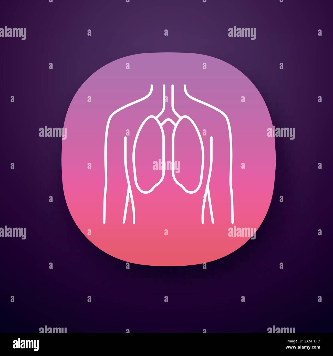 healthy lungs app icon human organ in good health functioning pulmonary system wholesome respiratory health ui ux user interface web or mobile ap stock vector image art alamy alamy