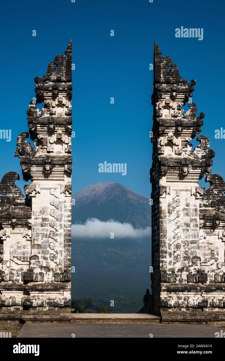Gates of Heaven at Lempuyang Luhur temple in Bali Stock Photo