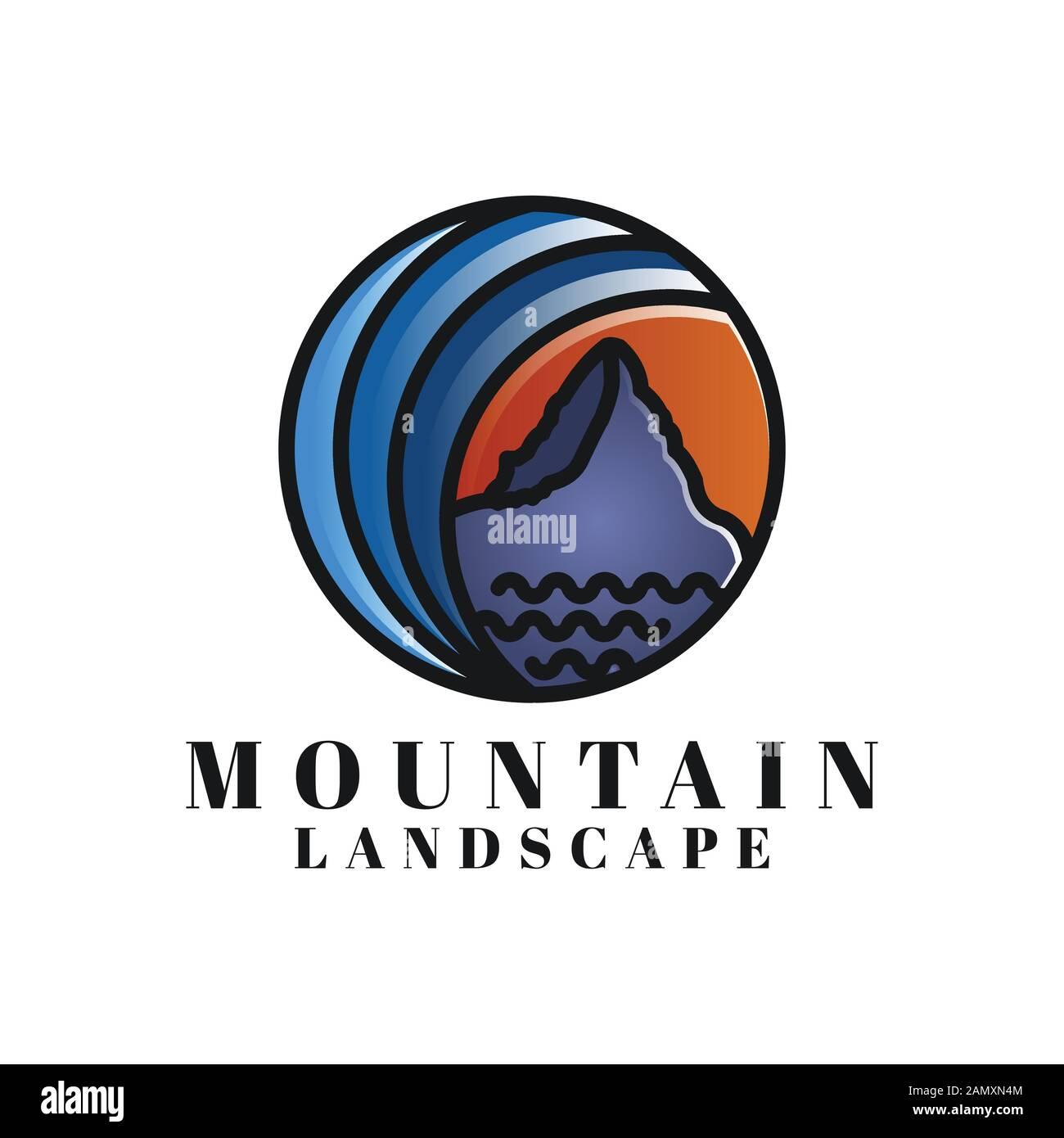 Mountain Landscape Logo Ideas Inspiration Logo Design Template
