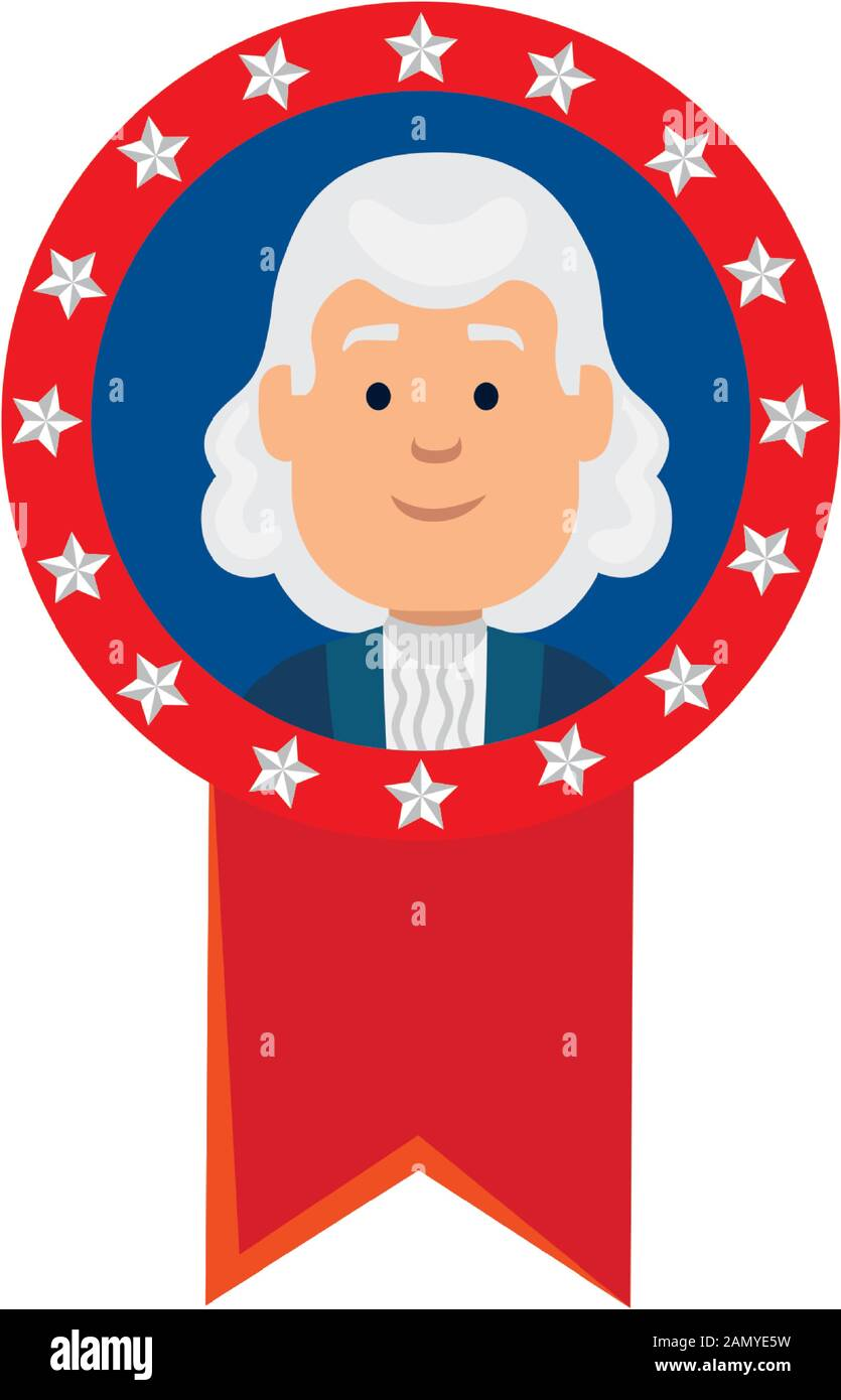 Usa president man inside seal stamp vector design Stock Vector