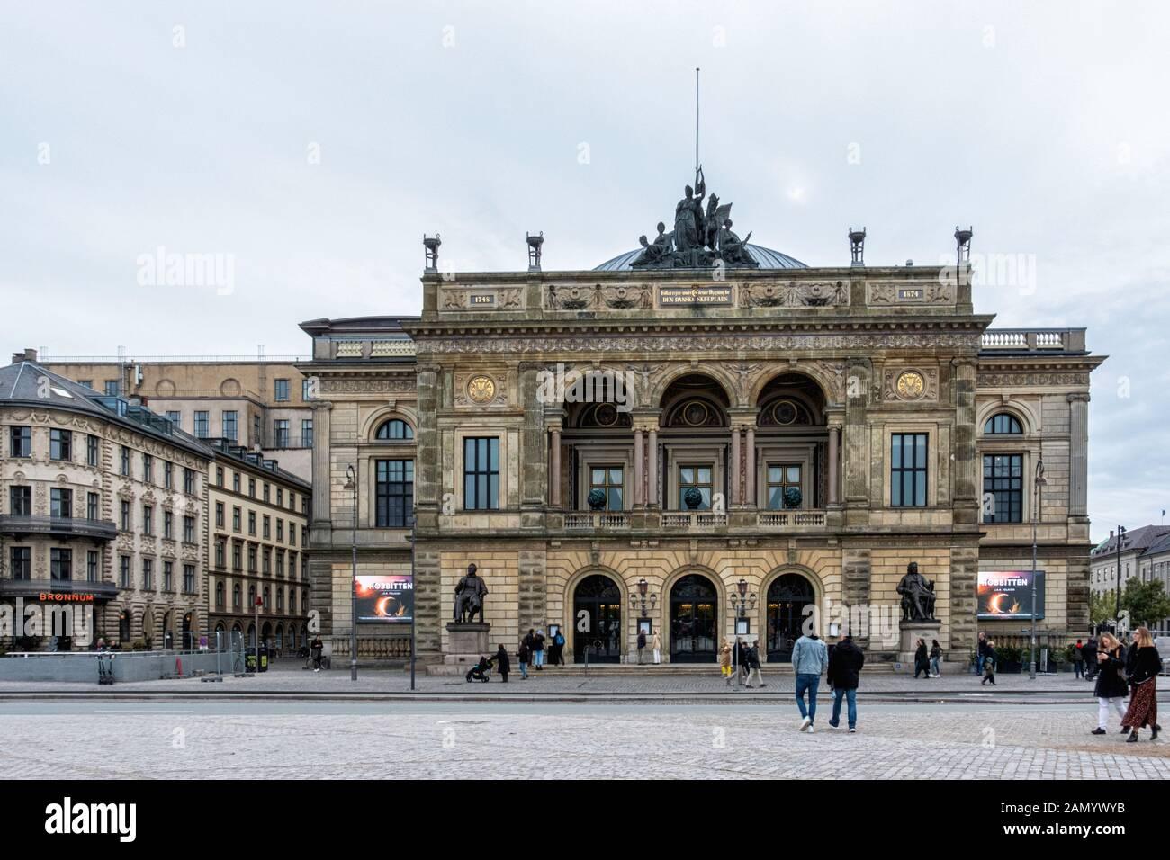 Royal Danish Theatre current building built 1872–74 and designed by Wilhelm Dahlerup on Kongens Nytorv 1, Copenhagen, Denmark Stock Photo