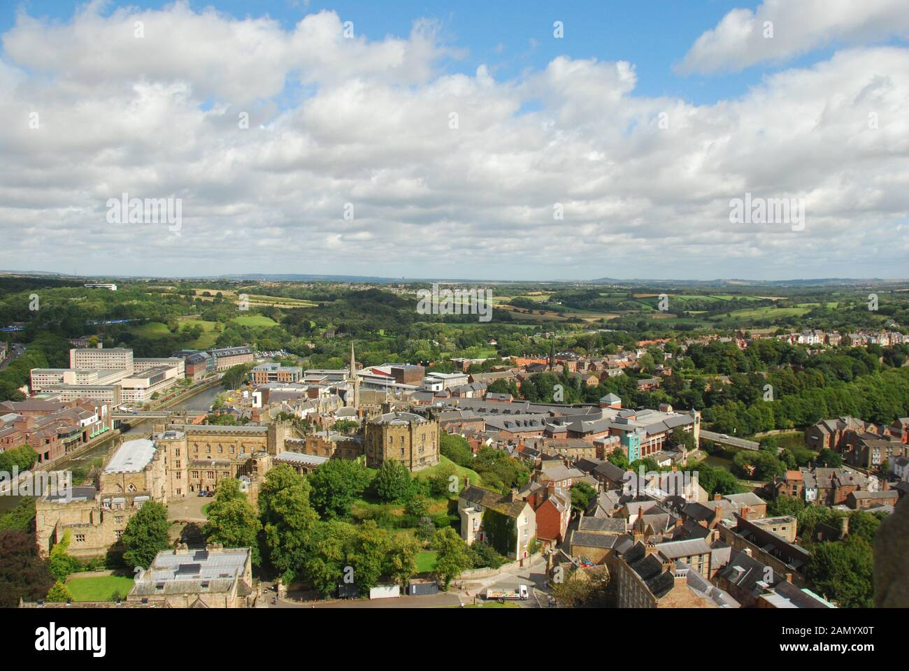 Durham Cathedral County Durham UK The Cathedral Church of Christ, Blessed Mary the Virgin and St Cuthbert of Durham Stock Photo