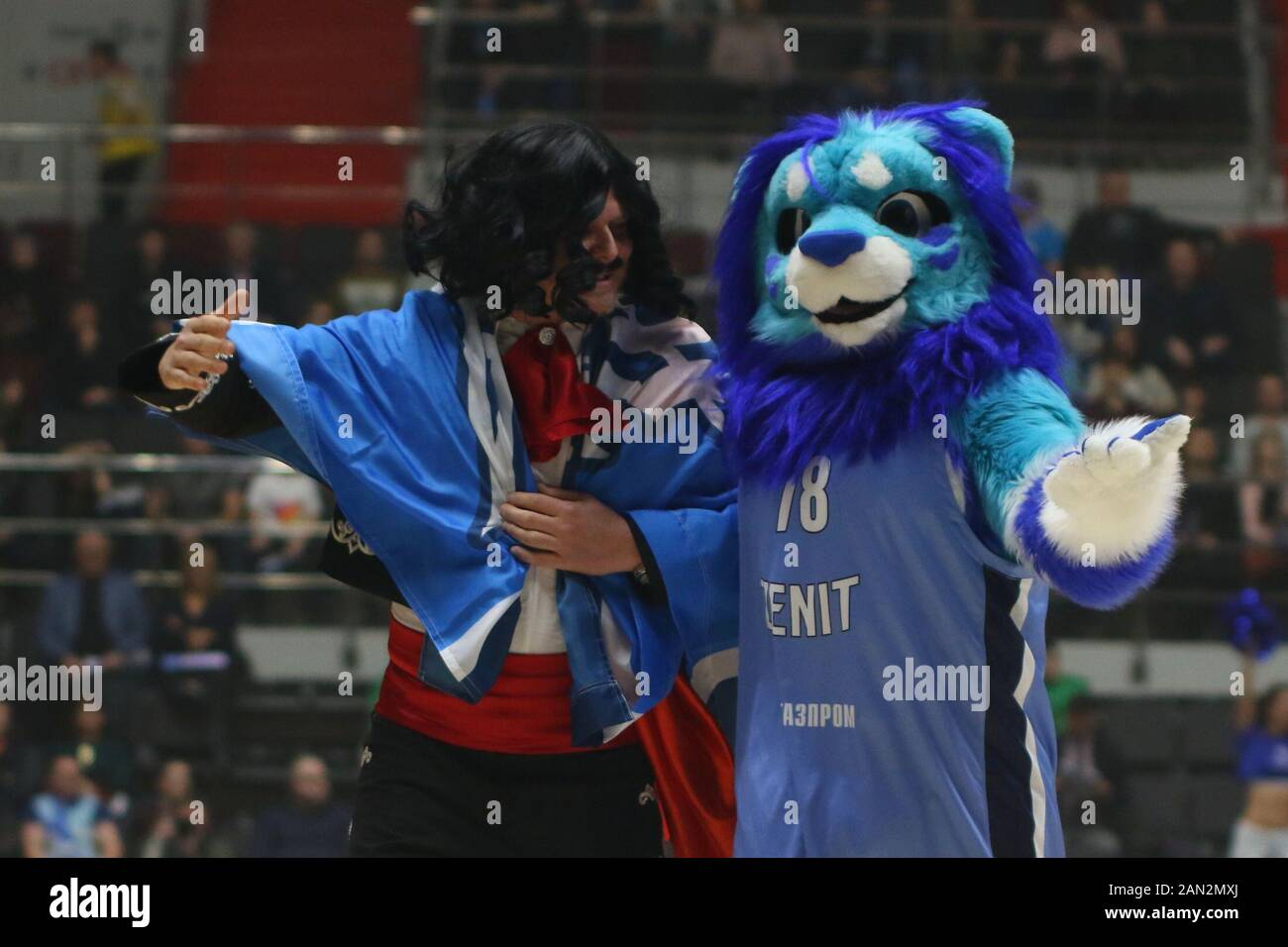 Russian Federation Saint Petersburg Sibur Arena Basketball Euroleague 2019 2020 Bc Zenit Bc Baskonia Zenit Basketball Player Stock Photo Alamy