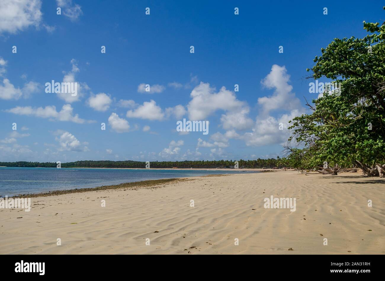 "Landscapes on ""Boipeba Island"", beaches in Bahia, Brazil Stock Photo"