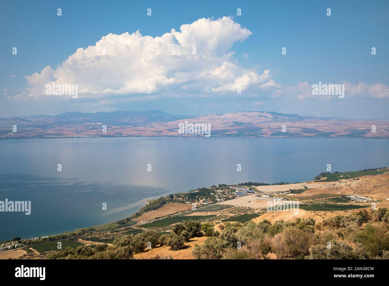 Sea of Galilee, Israel's largest freshwater lake Stock Photo