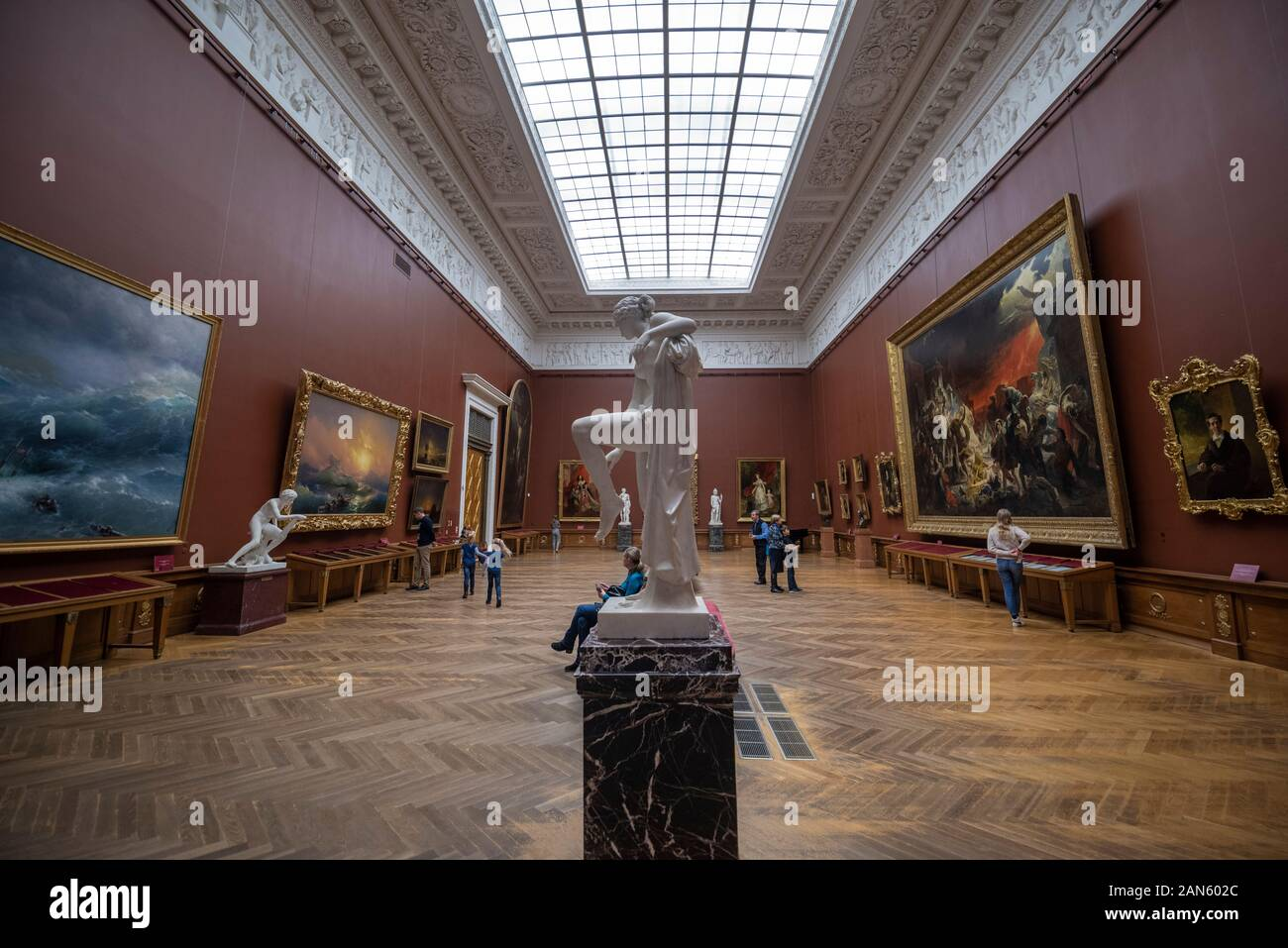 Saint Petersburg Russia Interior Of The State Russian Museum The Museum Is The Largest Depository Of Russian Fine Art Stock Photo Alamy