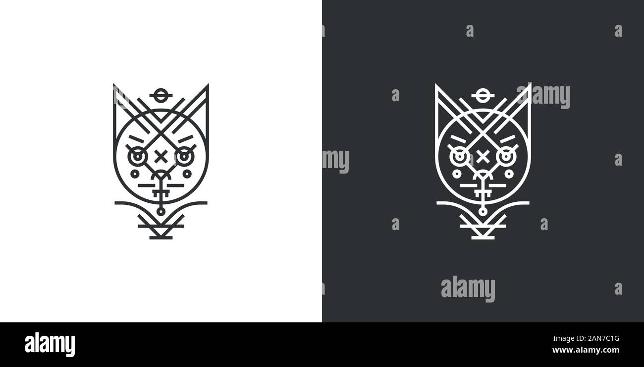 Unique logo which can help your business to grown up Stock Vector
