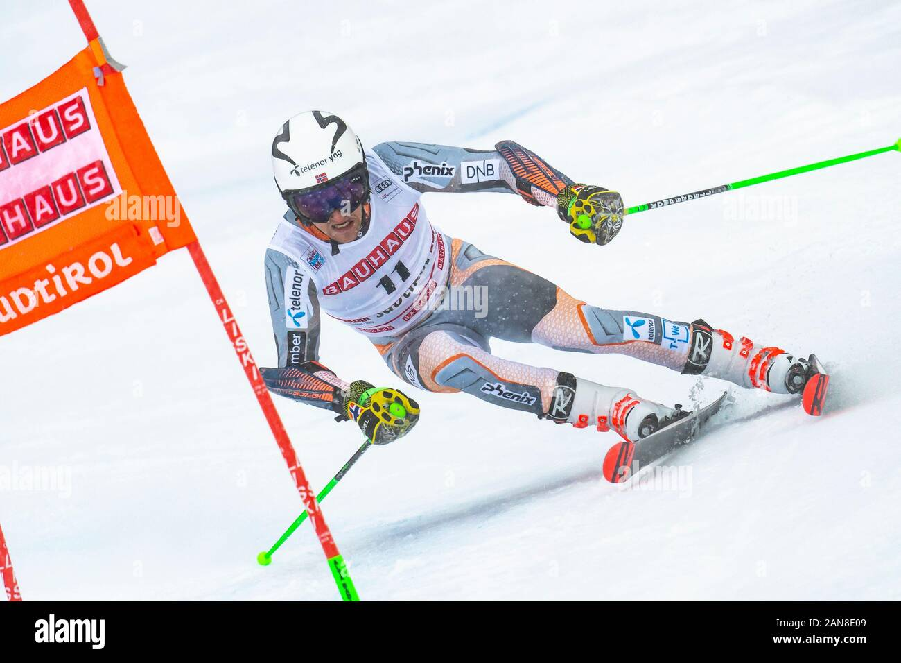Alta Badia, Italy 22 December 2019.  WINDINGSTAD Rasmus (Nor) competing in the Audi Fis Alpine Skiing World Cup Men's Giant Slalom on the Gran Risa Co Stock Photo