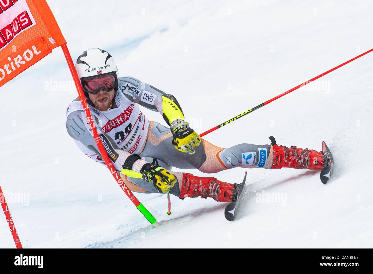 Alta Badia, Italy 22 December 2019.  KILDE Aleksander Aamodt (Nor) competing in the Audi Fis Alpine Skiing World Cup Men's Giant Slalom on the Gran Ri Stock Photo