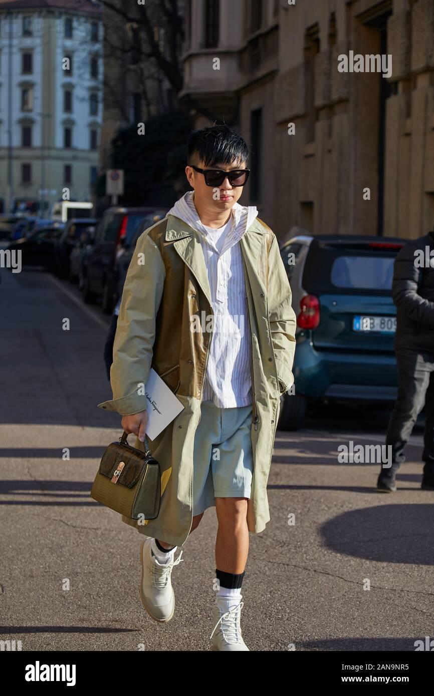 MILAN, ITALY - JANUARY 12, 2019: Man