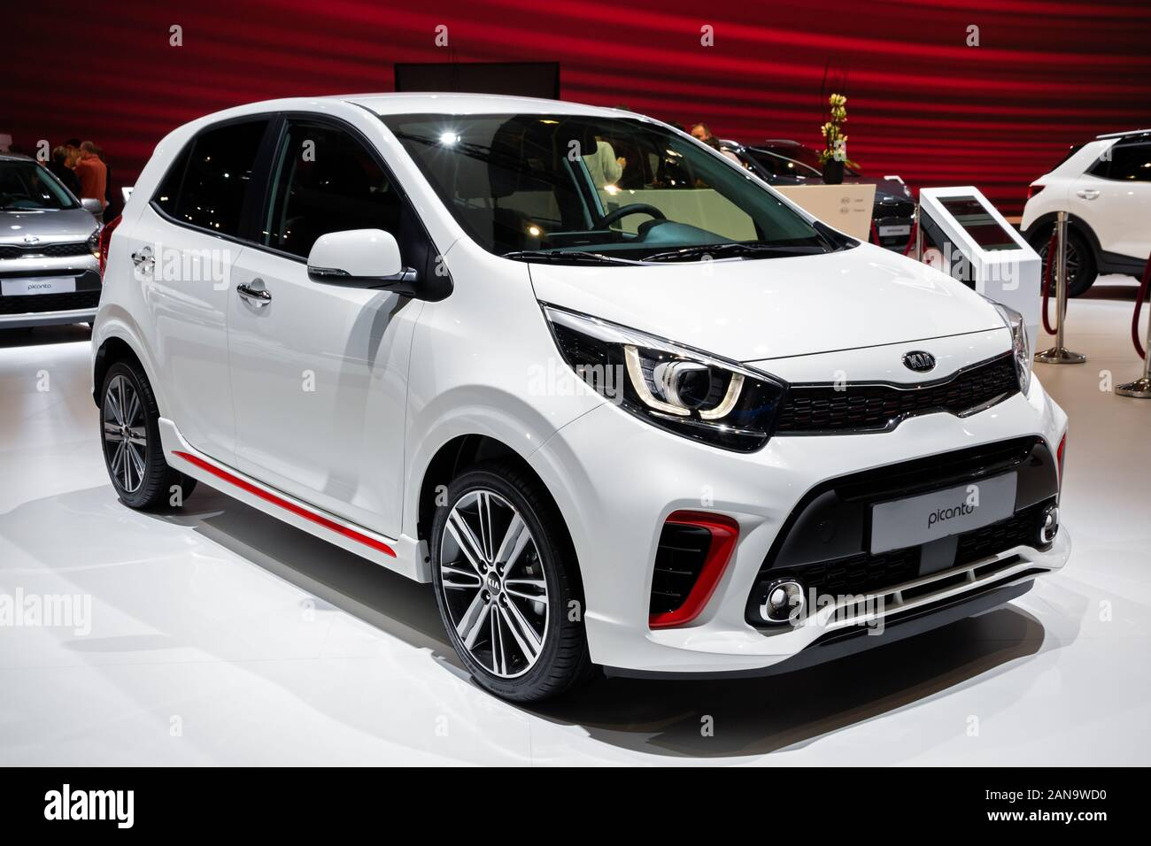 Brussels Jan 9 2020 New Kia Picanto Carmodel Presented At The Brussels Autosalon 2020 Motor Show Stock Photo Alamy