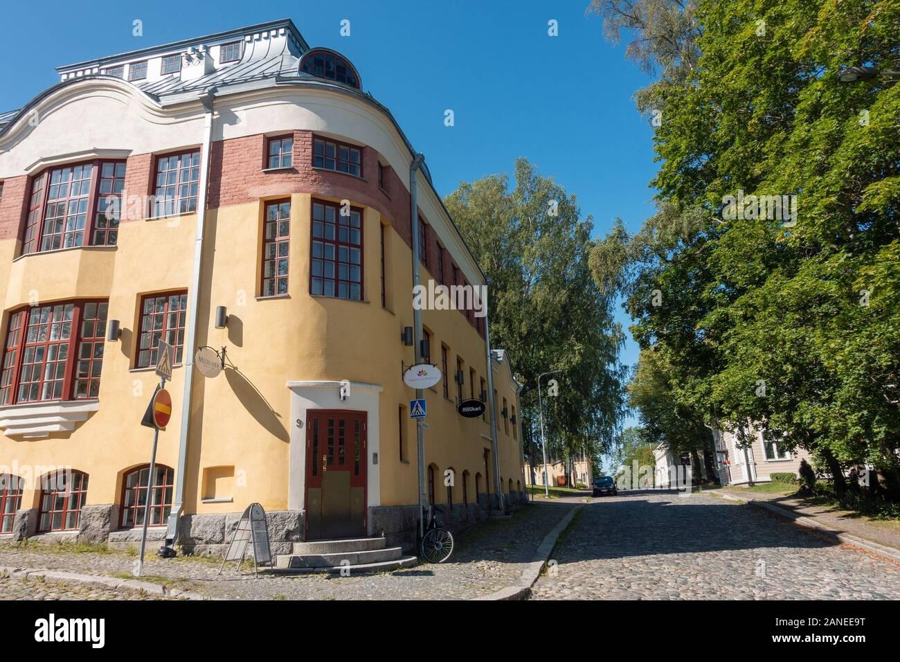 Streets of old Hämeenlinna town Stock Photo