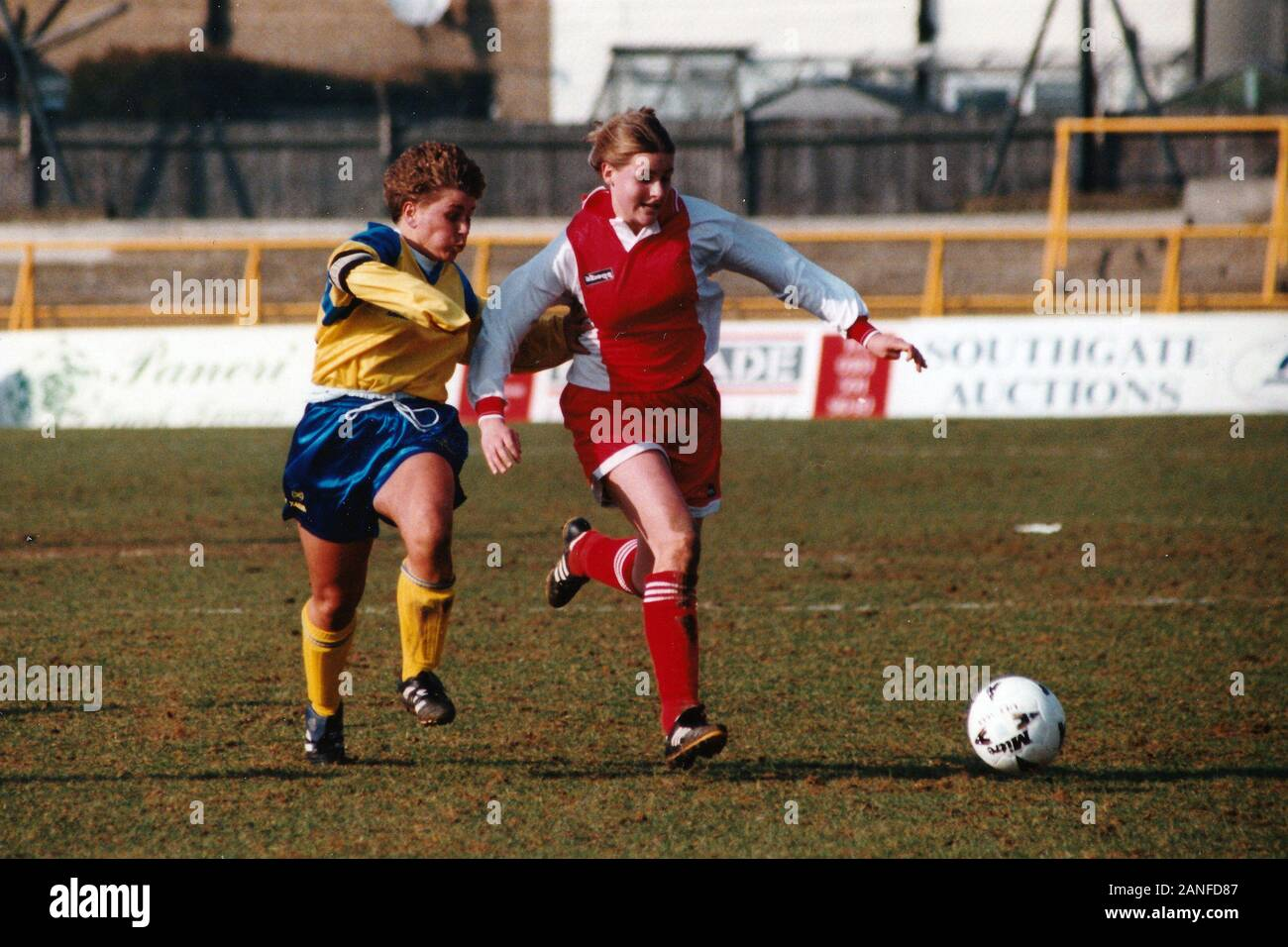 Kelly Smith of Wembley and Gillian Coulthard of Doncaster during Doncaster Belles vs Wembley Ladies, FA Women's Premier League Cup Final Football at U Stock Photo