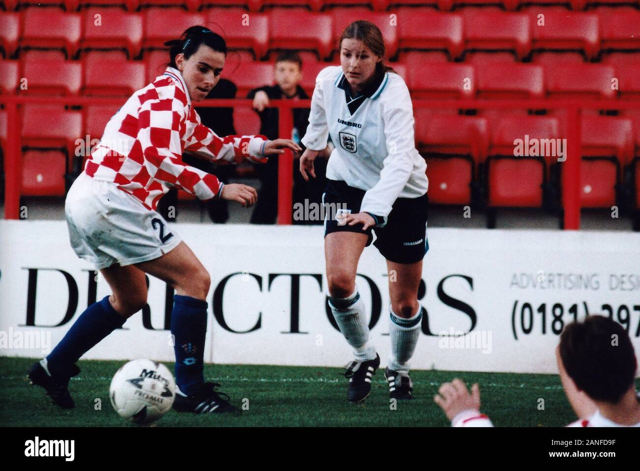 Kelly Smith of England during England Women vs Croatia Women, European Championships Qualifier Football at The Valley, Charlton Athletic FC on 19th No Stock Photo
