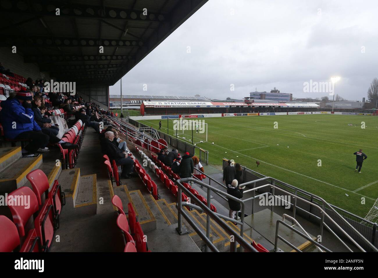 General view of the ground during Dagenham & Redbridge vs Ebbsfleet United, Vanarama National League Football at the Chigwell Construction Stadium on Stock Photo